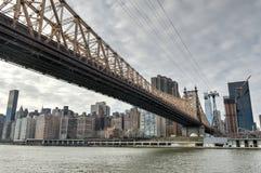 Roosevelt Island and Queensboro Bridge, Manhattan, New York Royalty Free Stock Images