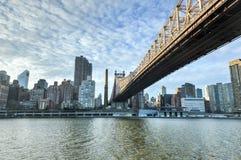 Roosevelt Island and Queensboro Bridge, Manhattan, New York Stock Photos