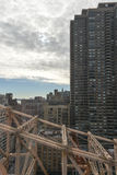 Roosevelt Island and Queensboro Bridge, Manhattan, New York Stock Photo