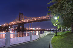 Roosevelt Island River Walk New York City Stock Images