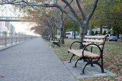 Roosevelt Island River Walk New York stad Arkivfoto