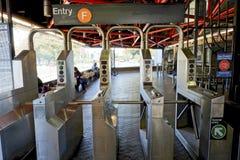 Roosevelt Island Subway, Stad -5 van New York stock fotografie