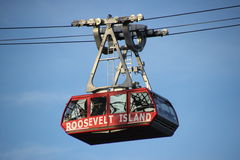 Roosevelt Island tram. New car of the new Roosevelt Island tram, carying people from Manhattan to Roosevelt Island and back Royalty Free Stock Image