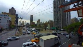 Roosevelt Island Tram Manhattan, de Stad van New York stock videobeelden