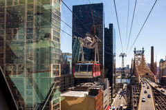 Roosevelt Island Tram's 40-Year History Royalty Free Stock Images