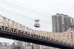 Roosevelt Island Tramway, New York. NEW YORK - MAY 28: The famous Roosevelt Island tramway on May 28, 2013. The Tram began operation in 1976 and featured in many Stock Images