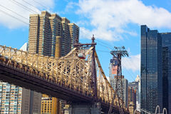 Roosevelt Island Tramway and Queensboro Bridge. Stock Image