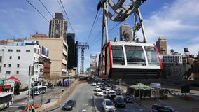 Roosevelt Island Tramway at Queensboro Bridge Manhattan  United States cityscapes stock video