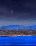 Roosevelt lake Arizona Moonrise Stock Images