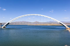 Roosevelt Lake Bridge Arizona Stock Images
