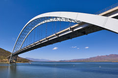 Roosevelt Lake Bridge Arizona Royalty Free Stock Photos