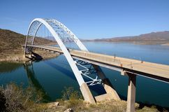 Roosevelt Lake Bridge. In Arizona on a Sunny Day Stock Photography