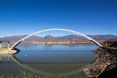 Roosevelt lake bridge Stock Photo