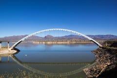 Roosevelt lake bridge Stock Photo