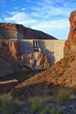 Roosevelt Lake Dam on the Apache Trail Highway royalty free stock photo