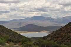 Roosevelt Lake en Arizona Photos libres de droits