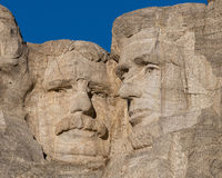 Roosevelt and Lincoln at Mount Rushmore Royalty Free Stock Photography