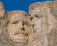 Roosevelt och Lincoln på Mount Rushmore Royaltyfri Fotografi