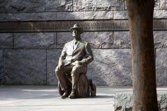 roosevelt statyrullstol Arkivfoto