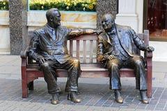 Roosevelt und Churchill stockbilder
