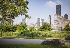 Roosevelt wyspy park z NYC w tle fotografia stock