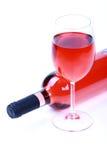 Rooskleurige wijn Stock Foto