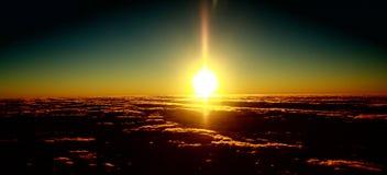 Rooskleurige wolken van dawn1 Royalty-vrije Stock Afbeeldingen