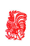 Rooster. This paper-cut shows the Rooster, one of the Chinese Zodiac Royalty Free Stock Images