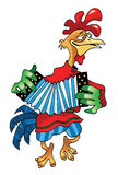 Rooster accordion musician figure humor Stock Photos