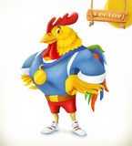 Rooster. Animal 2017. Champion athlete. 3d vector cartoon character Stock Photography
