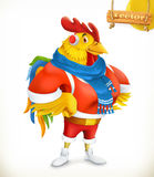 Rooster. Animal 2017. New Year mascot. 3d vector cartoon character. Rooster. Animal 2017. New Year mascot. East calendar horoscope. 3d vector cartoon character Stock Photos