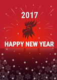 Rooster Asian Horoscope Happy New Year Banner Greeting Card Royalty Free Stock Image