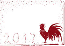 2017 rooster background. Vector 2017 new year background with rooster Stock Images