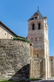 The rooster of the Basilica of San Isidoro de León is a vane located on top of the Romanesque tower belonging to this temple. Is a vane located on top of the stock image