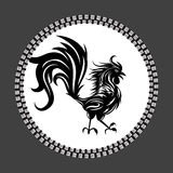 Rooster bird concept of Chinese New Year of the Rooster. Grunge vector file organized in layers for easy editing. Rooster bird concept of Chinese New Year of stock illustration