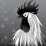 Rooster bird concept of Chinese New Year of the Rooster. Vector hand drawn sketch illustration. Rooster bird concept of Chinese New Year of the Rooster. Vector Royalty Free Stock Photos