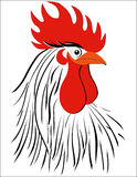 Rooster bird concept of Chinese New Year of the Rooster. Vector hand drawn sketch illustration. Rooster bird concept of Chinese New Year of the Rooster. Vector Royalty Free Stock Photography