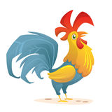 Rooster cartoon character; Vector drawing EPS8. Rooster cartoon character for New Year 2017; Funny colorful Cockerel; Vector drawing EPS8 Royalty Free Stock Images
