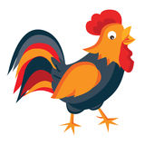 Rooster in cartoon style Royalty Free Stock Photography
