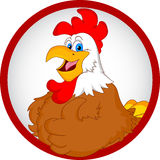 Rooster cartoon thumbs up Royalty Free Stock Photos