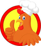 Rooster chef cartoon giving thumb up Stock Photo
