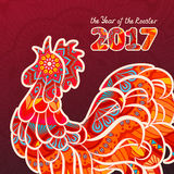 Rooster. Chicken, cock. Vector illustration. Can be used as a greeting card for the year of vector illustration