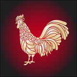 Rooster. Chicken, cock. Vector illustration. Can be used as a greeting card for the year of stock illustration