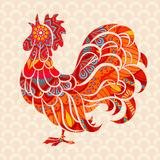 Rooster. Chicken, cock. Vector illustration. The symbol of the Chinese New Year 2017 vector illustration