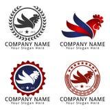 Rooster Chicken Head Concept Logo Stock Photos