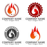 Rooster Chicken Head fire Concept Logo Logo Royalty Free Stock Photo
