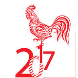Rooster. Chinese calendar for the year of rooster, vector illustration Royalty Free Stock Photo