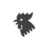 Rooster 2017 Chinese zodiac icon vector, filled flat sign, solid. Pictogram isolated on white, logo illustration Stock Image