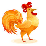 Rooster Christmas Chinese New Year Symbol Cartoon Character Colo Stock Photos