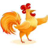 Rooster Christmas New Year Symbol Cartoon Character  Stock Image